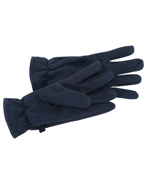 Port Authority GL01  Fleece Gloves Navy at bigntallapparel