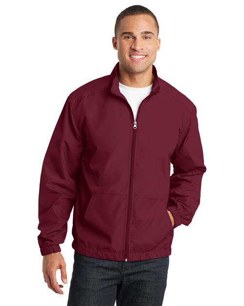 Port Authority J305 Men Essential Jacket Claret Red at bigntallapparel