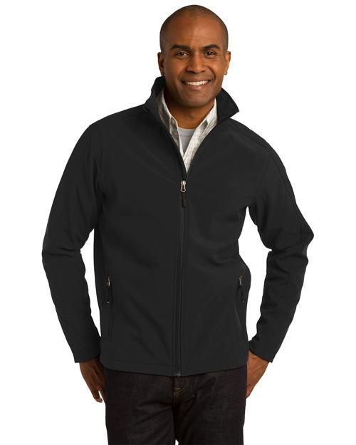 Port Authority TLJ317 Men Tall Core Soft Shell Jacket Black at bigntallapparel