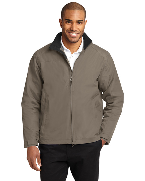 Port Authority Signature J354 Men Challenger Ii Jacket Khaki/True Black at bigntallapparel