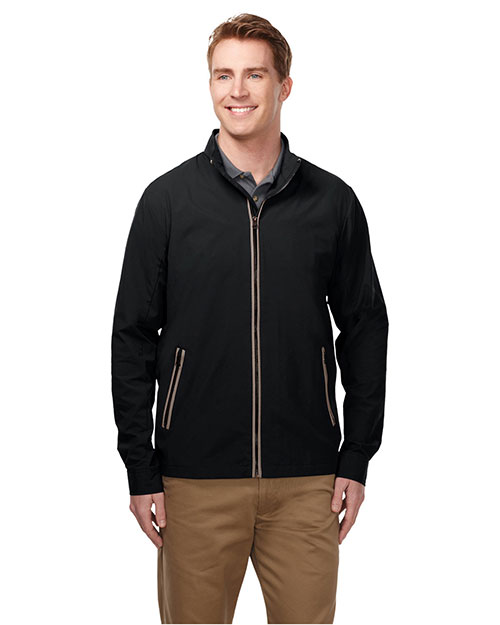 Tri-Mountain J5700 Men Jacket With 100% Nylon W/Water Repellent 600mm Coating Black/Charcoal at bigntallapparel