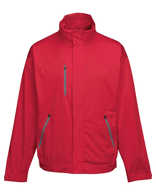Tri-Mountain J6840 Men 100% Poly Knit3 In I Jacket Inside With Zip Off Vest Red/ Charcoal at bigntallapparel