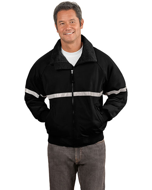 Port Authority J754R Men Big  Challenger Work Jacket With Reflective Taping T Bk/T Bk/Refl at bigntallapparel