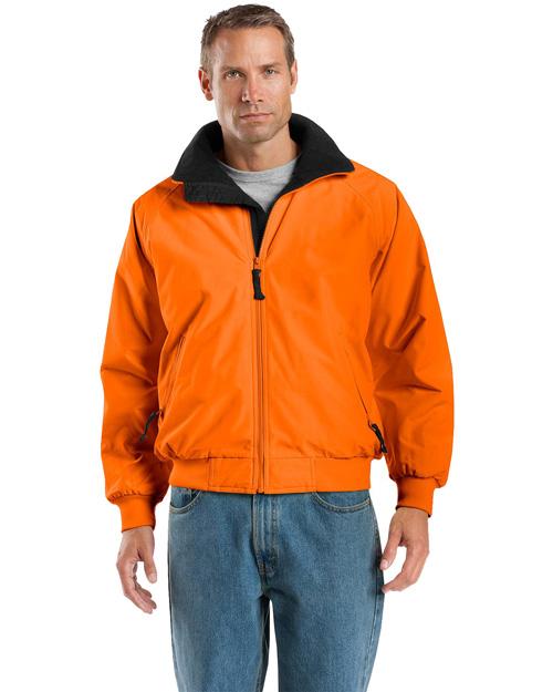 Port Authority J754S Men Safety Challenger Jacket Safety Orange/ Black at bigntallapparel