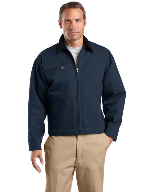 Cornerstone TLJ763 Men Tall Duck Cloth Work Jacket Navy at bigntallapparel