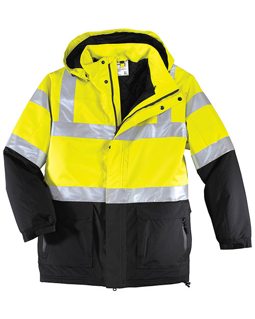 Port Authority J799S Men Big  Safety Heavyweight Parka Sfty Ylw/Black at bigntallapparel