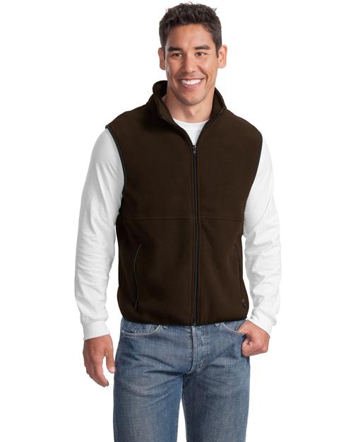 Port Authority JP79 Men R-Tek Fleece Vest Brown at bigntallapparel