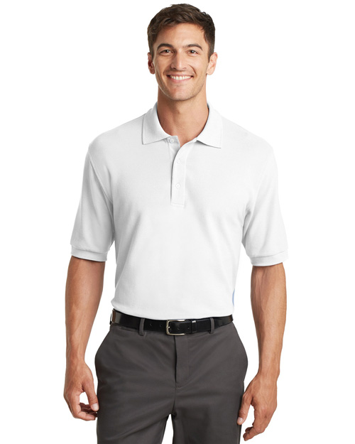 Port Authority K448 Men 100% Pima Cotton Polo Sport Shirt White at bigntallapparel