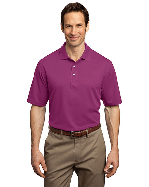 Port Authority Signature K455 Men Rapid Dry Polo Sport Shirt Boysenbry Pink at bigntallapparel