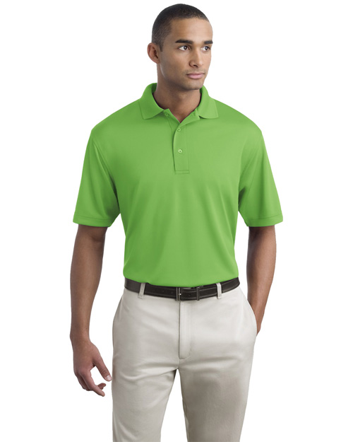 Port Authority K497 Men Bamboo Pique Polo Sport Shirt Vibrant Green at bigntallapparel