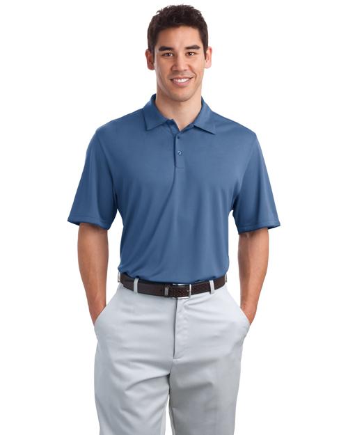 Port Authority K498 Men Bamboo Charcoal Birdseye Jacquard Sport Shirt Moonlight Blue at bigntallapparel