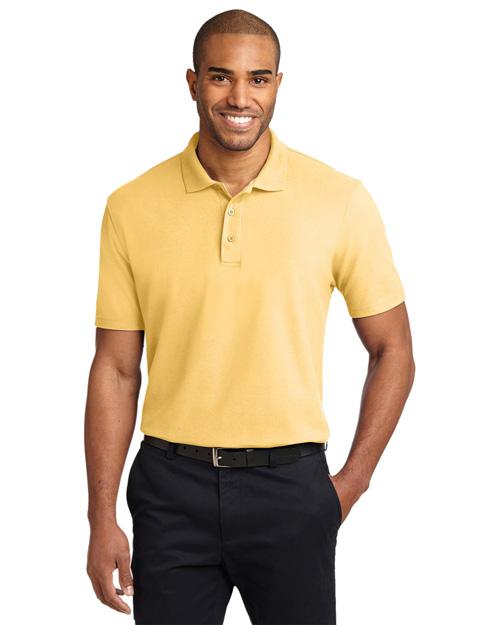 Port Authority K510 Men Stain-Resistant Sport Shirt Banana at bigntallapparel