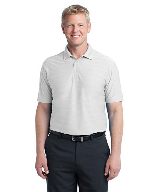 Port Authority K514 Men Horizonal Texture Polo White at bigntallapparel