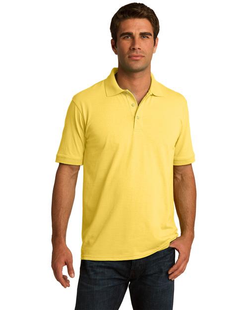 Port & Company KP55 Men 5.5ounce Jersey Knit Polo Yellow at bigntallapparel