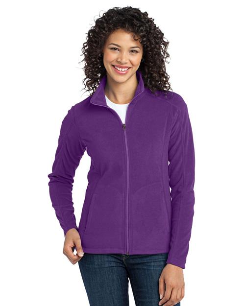 Port Authority L223 Women Microfleece Jacket Amethyst Purple at bigntallapparel