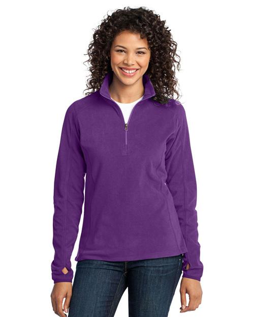 Port Authority L224 Women Microfleece 1/2-Zip Pullover Amethyst Purple at bigntallapparel