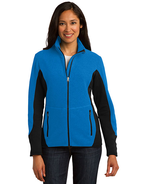 Port Authority L227 Women Rtek Pro Fleece Fullzip Jacket Imperial Bl/Bk at bigntallapparel