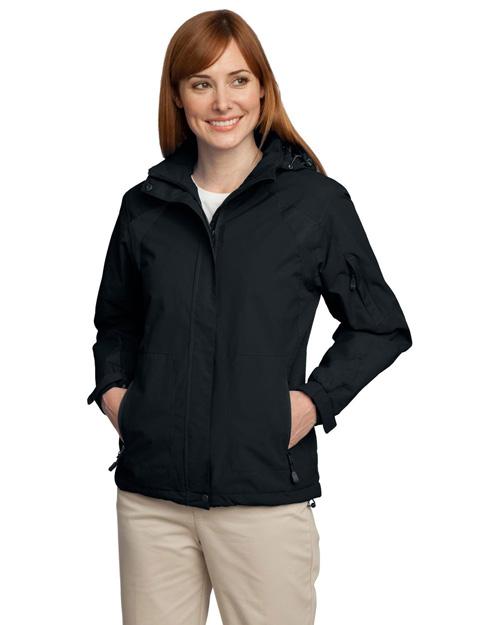 Port Authority L304 Women All-Season Ii Jacket Black/Black at bigntallapparel