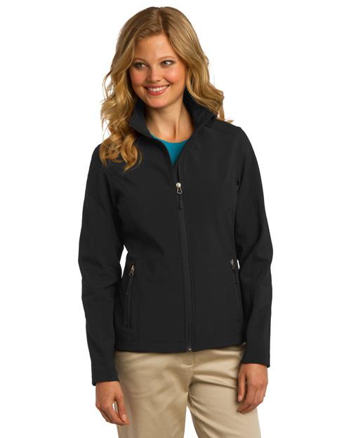 Port Authority L317 Women Core Soft Shell Jacket Black at bigntallapparel