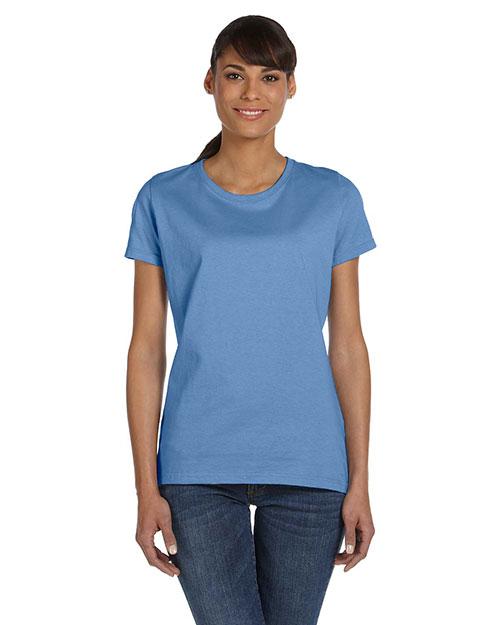 Fruit Of The Loom L3930R Women 5 Oz. 100% Heavy Cotton Hd T-Shirt Columbia Blue at bigntallapparel