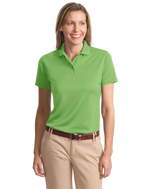 Port Authority L497 Women Poly-Bamboo Blend Pique Polo Vibrant Green at bigntallapparel