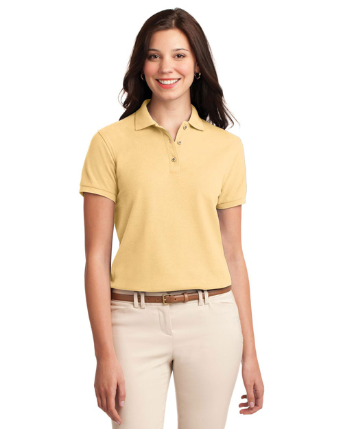 Port Authority L500 Women Silk Touch Polo Banana at bigntallapparel