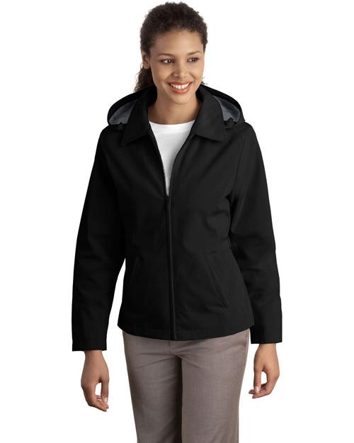 Port Authority L764 Women Legacy  Jacket Black/Steel Grey at bigntallapparel