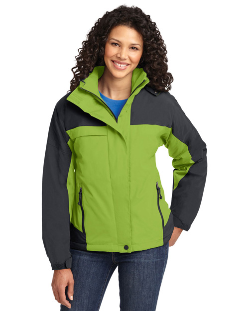 Port Authority L792 Women Nootka Jacket Bright Pistachio/Graphite at bigntallapparel