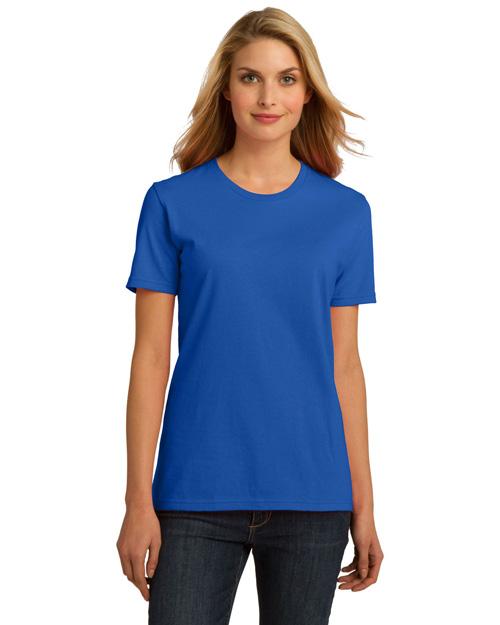 Port & Company LPC150ORG Women Essential 100% Organic Ring Spun Cotton Tshirt Royal at bigntallapparel