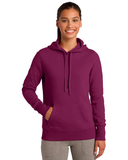 Sport-Tek LST254 Women Pullover Hooded Sweatshirt Pink Rush at bigntallapparel