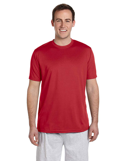 Harriton M320 Men 4.2 Oz Athletic Sport T Shirt Red at bigntallapparel