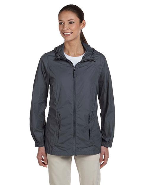 Harriton M765W Women Essential Rainwear Graphite at bigntallapparel