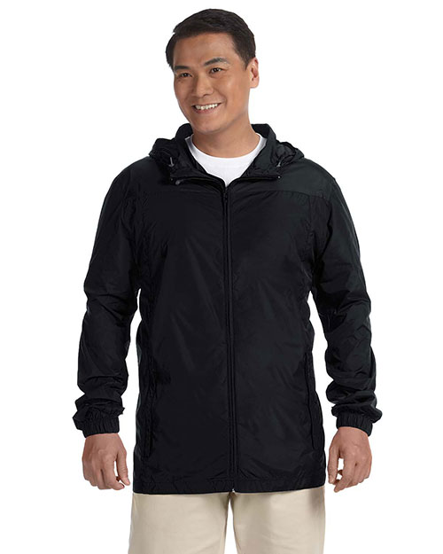 Harriton M765 Men Essential Rainwear Black at bigntallapparel