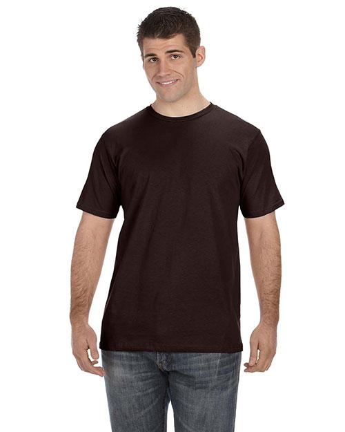 Anvil OR420 Men 5 Oz., 100% Organic Cotton T-Shirt Chocolate at bigntallapparel