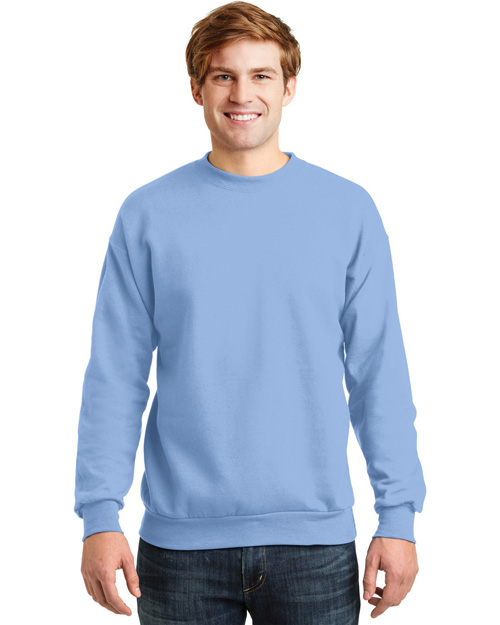 Hanes P160 Men Comfortblend Crewneck Sweatshirt Light Blue at bigntallapparel