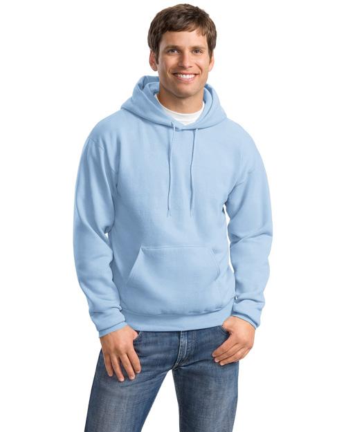 Hanes P170 Men Comfortblend Pullover Hooded Sweatshirt Light Blue at bigntallapparel