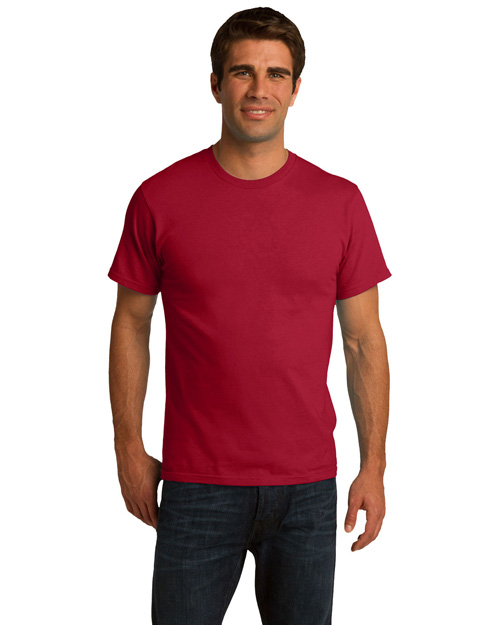 Port & Company PC150ORG Men Essential 100% Organic Ring Spun Cotton Tshirt Red at bigntallapparel