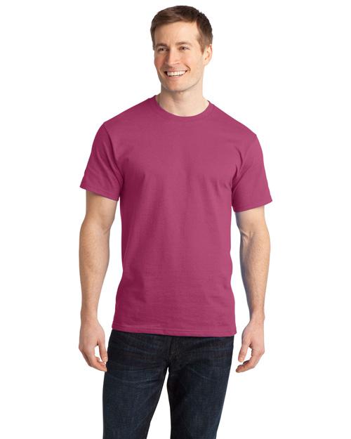 Port & Company PC150 Men Essential Ring Spun Cotton Tshirt Sangria at bigntallapparel