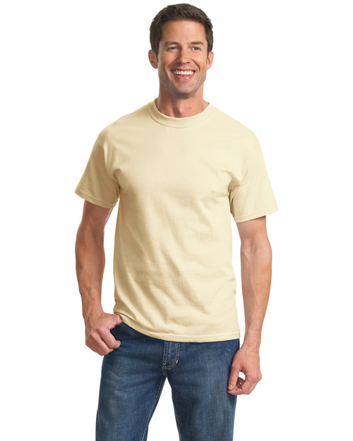 Port & Company PC61 Men 100% Cotton Essential T Shirt Natural at bigntallapparel