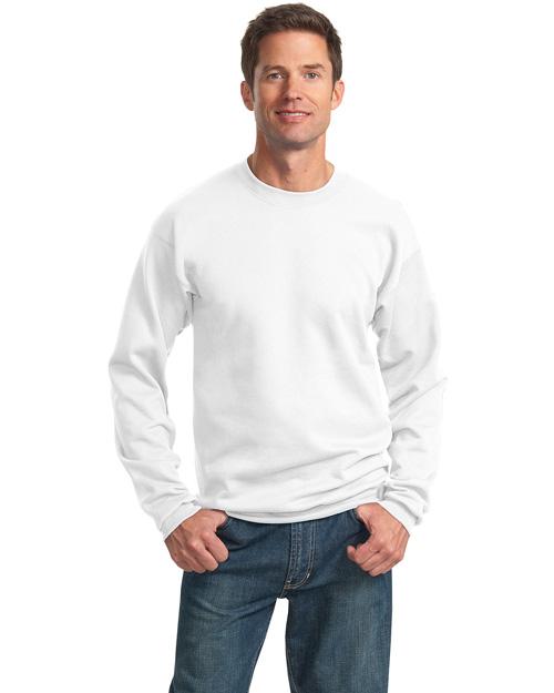 Port & Company PC78 Men 7.8 Oz Crewneck Sweatshirt White at bigntallapparel