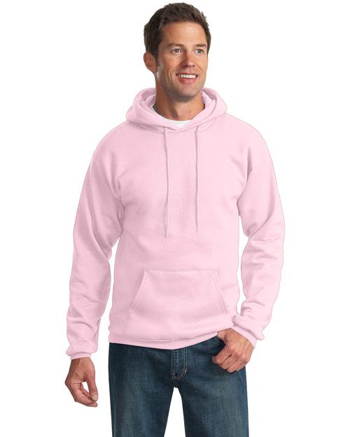 Port & Company PC90H Men Pullover Hoodie Sweatshirt Pale Pink at bigntallapparel