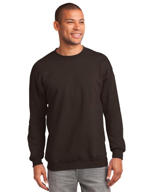 Port & Company PC90 Men 9ounce Sweatshirt Dark Chocolate Brown at bigntallapparel
