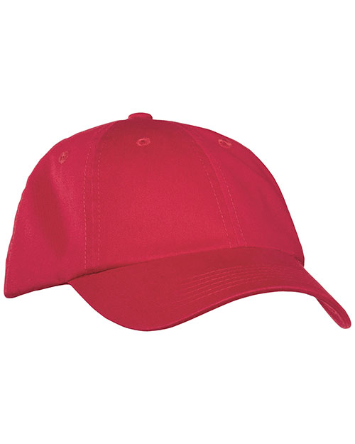 Port Authority PWU  Garment Washed Cap Berry at bigntallapparel
