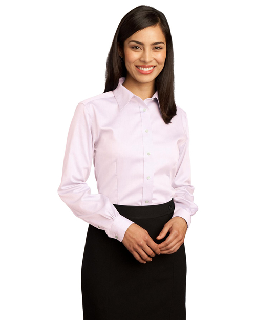 Red House RH25 Women Non-Iron Pinpoint Oxford Pink at bigntallapparel