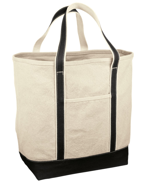 Red House RH35  Large Heavy Weight Canvas Tote Black at bigntallapparel