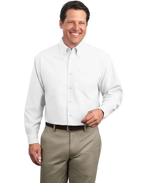 Port Authority S606 Men Classic Oxford Dress Shirt White at bigntallapparel