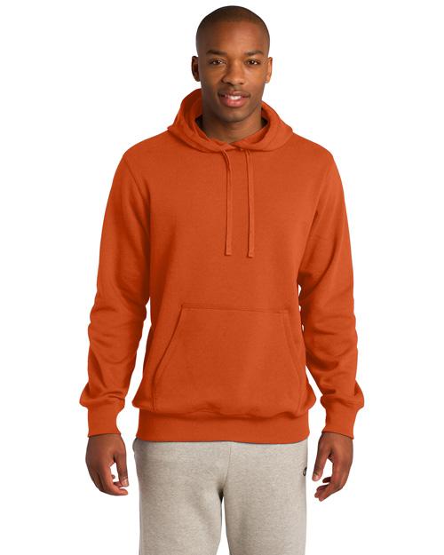 Sport-Tek TST254 Men Tall Pullover Hooded Sweatshirt Deep Orange at bigntallapparel