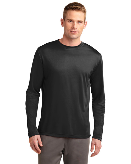 Sport-Tek ST350LS Men Long Sleeve Competitor Tee Black at bigntallapparel