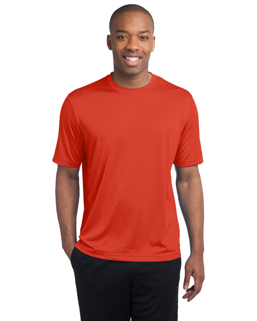 Sport-Tek TST360 Men Tall Heather Contender Tee Dp Orange Hthr at bigntallapparel