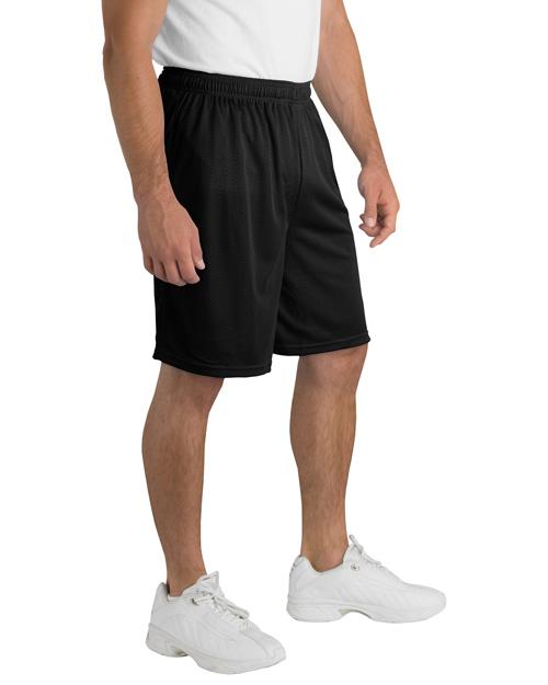 Sport-Tek ST510 Men Posicharge Classic Mesh ™  Short Black at bigntallapparel